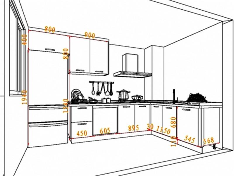 橱柜手绘设计图