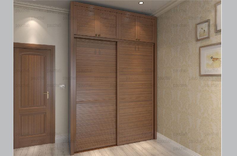 現代風格衣柜對開門