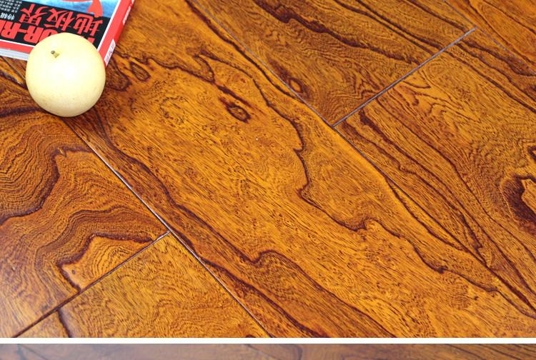 秦旗地板 榆木浮雕多层实木地板 f-201