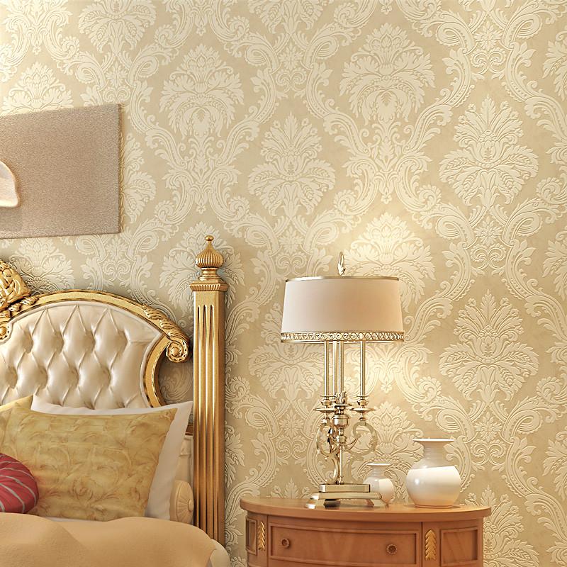 纸尚美学 欧式简约大马士革z20203无纺布墙纸 客厅卧壁纸