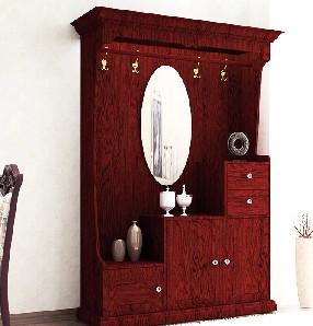 好莱客抽屉间厅柜带镜子现代简约玄关柜餐厅客厅隔断