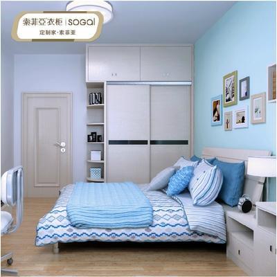 索菲亚 欧式diy设计整套卧室家具衣柜床书柜电视柜订制