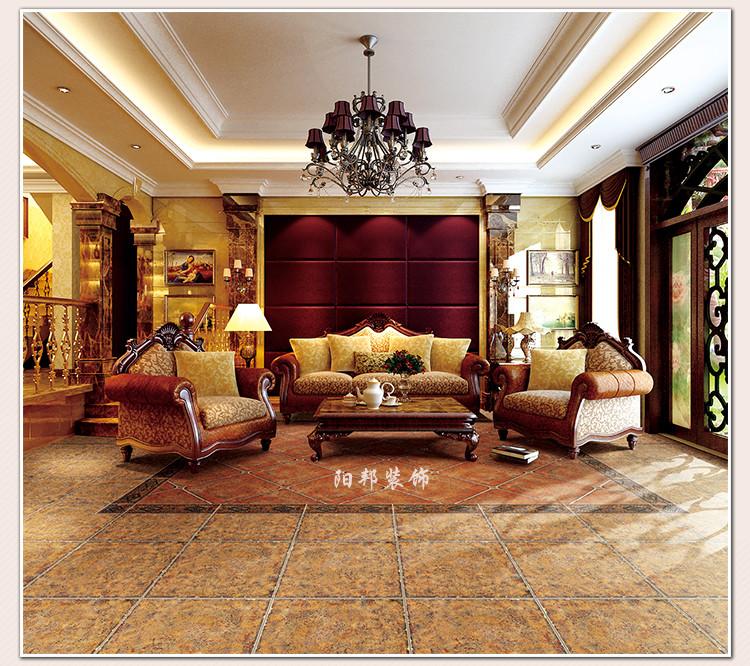 别墅客厅地板砖别墅客厅顶灯图片1