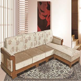 布艺转角沙发 纯实木沙发