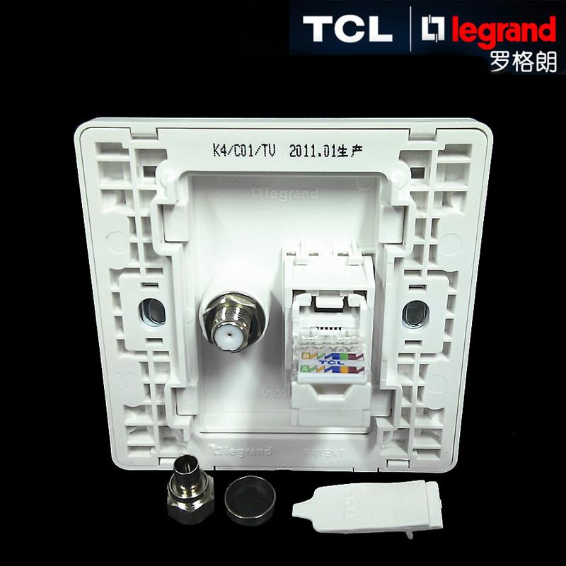 tcl legrand罗格朗开关美点系列电视电脑插座