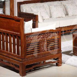 花梨木 实木沙发 红木沙发l型贵妃现代中式117a2152