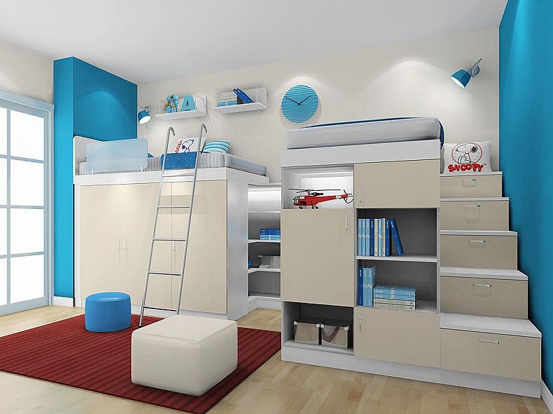 尚品宅配 双层床儿童房定制 定制家具领导品牌
