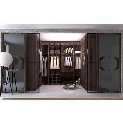 建材 家装主材 移门衣柜 隔断移门 木框玻璃门 诗尼曼整体衣柜 定制