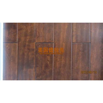 俄罗斯枫桦纯实木地板手工擦色手刮纹仿古进口漆和板材环保无甲醛