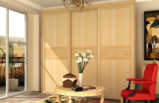 好莱客衣柜 法国红松/白松实木颗粒板