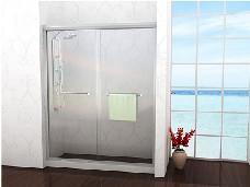 美丽华淋浴房一字形两移门(8mm耀华皮尔金盾原片钢化玻璃)
