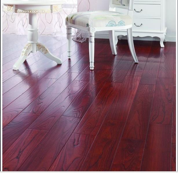 暗红色地板配窗帘图暗红色门配复合地板的效果图图片8
