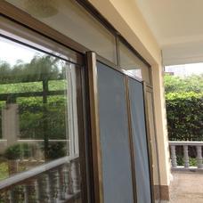 【万增门窗】隔音移门上海80断桥铝门窗 古桐色 断桥阳台移门