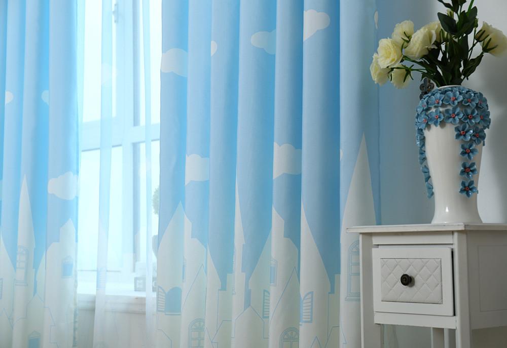 韩式田园清新客厅卧室遮光窗帘