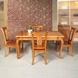 全实木橡木餐桌椅825