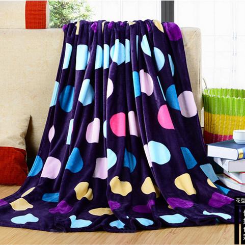 珊瑚绒毛毯秋冬新品法兰绒毯子定制 180*200cm