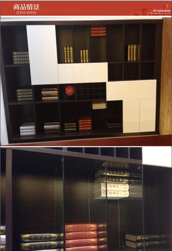 丹麦风情 同色现代木框书柜 e1级 实木颗粒结构材质