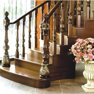 莫干山楼梯 整体 欧洲风情 红檀香木 价格面议