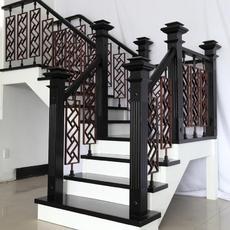 楼梯栏杆扶手推荐产品:实木楼梯 米希亚中式分体 高端定制分体铁艺