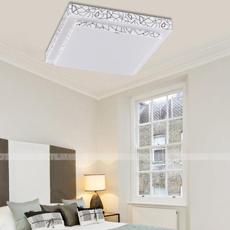 欧特朗led现代简约客厅灯具卧室吸顶灯书房亚克力灯饰 简雅方图片