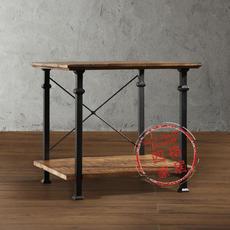 美式乡村工业风格铁艺复古做旧茶几实木桌子角几方桌咖啡桌边几