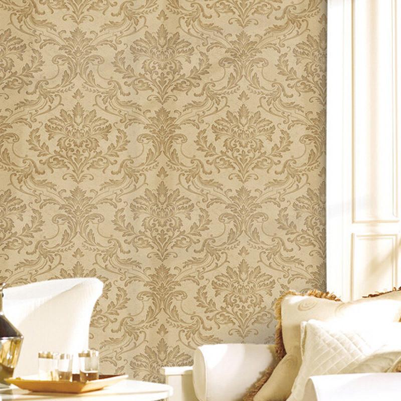 009系列无缝墙布大马士革欧式简约客厅卧室满铺