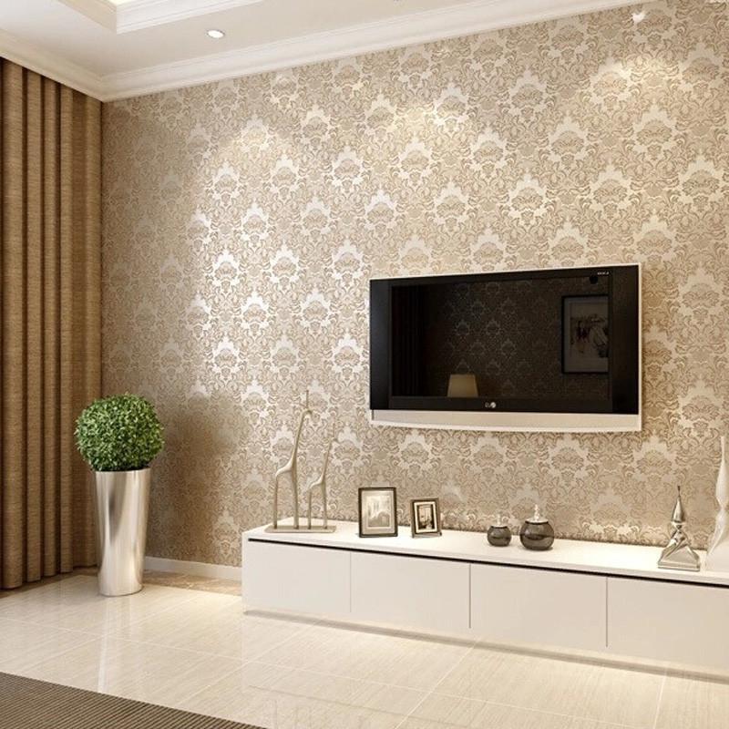 经典提花欧式无缝墙布客厅房间满铺01图片