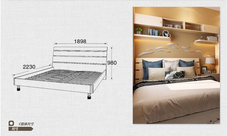 定制衣柜 主卧房家装设计 书柜书桌床组合家具定做