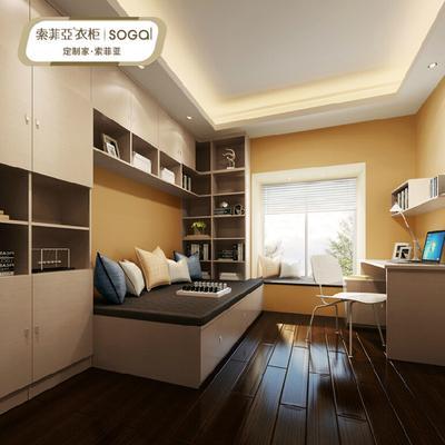 简欧式卧室家具定制 书柜设计榻榻米定做 办公书桌设计