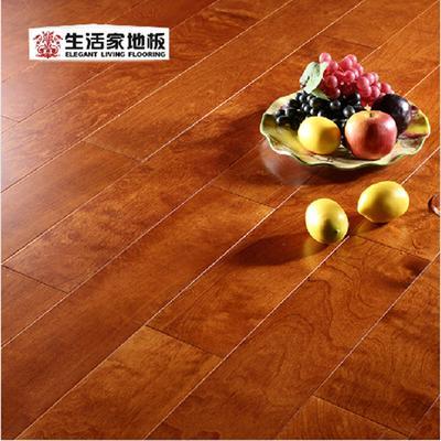 生活家巴洛克15mm地暖 桦木丹枫迎秋 实木多层复合地板