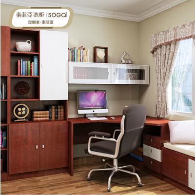 转角书桌书柜衣柜设计图展示