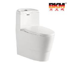 贝克玛卫浴 BKM-8039 虹吸式连体座便器超大冲力节水型
