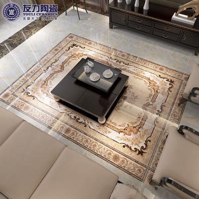 友力陶瓷 微晶石瓷砖 拼花地砖 客厅玄关2400 1600拼图 地花地板砖 dy