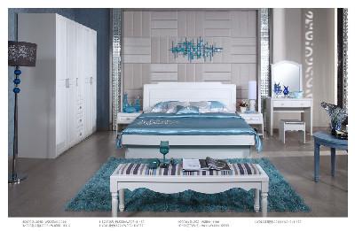 【欧瑞家具】珍珠白 地中海/现代简约1.8m大床