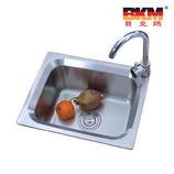 厨房单斗水槽 BKM-5040 贝克玛卫浴 SUS304不锈钢单槽水斗拉丝面