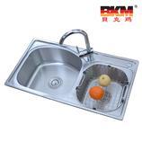 贝克玛卫浴 厨房不锈钢双斗水槽BKM 8245-S2 新款SUS304拉丝面