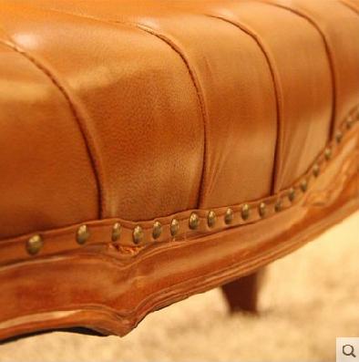 欧式柚木形象款床尾凳图片