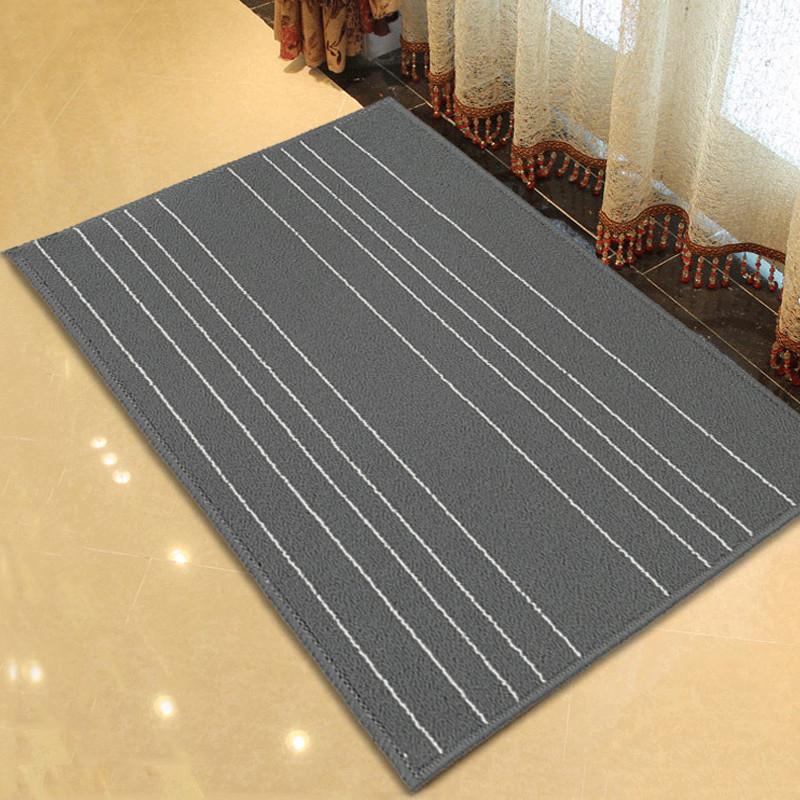 卡比特地毯 灰白条门垫 地垫 欧式 防滑进门垫 畅销款高品质 | 500*800  灰白色