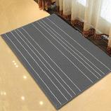 卡比特地毯 灰白条门垫 地垫 欧式 防滑进门垫 畅销款高品质   500*800  灰白色