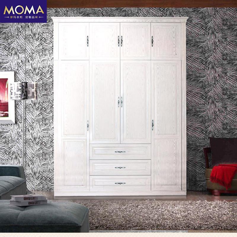 摩玛衣柜 卧室创意家具欧式简约衣柜平开门 嵌入式整体衣柜定制