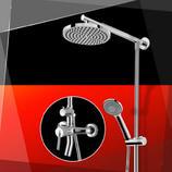 箭牌卫浴 全铜沐浴龙头淋浴花洒套装淋浴喷头淋浴器AE3304三出水