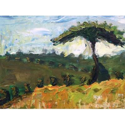 艺术88 手绘风景油画 安之华画家原创作品 《风景》  历史销量