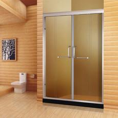 【铝合金】德卫淋浴房 一字型双门互动推拉门DM-1021