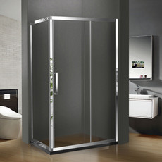 【不绣钢】德卫淋浴房 一固一移推拉门 DM-1084