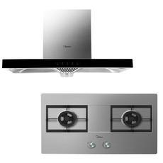 美的(Midea)TT9030-GR+MQ7633-S|智能蒸汽洗油烟机,110°C高温高压蒸汽,洗净率高达98.5%
