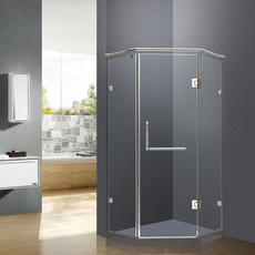 【不锈钢】DM-1094  钻石型开门   德卫淋浴房