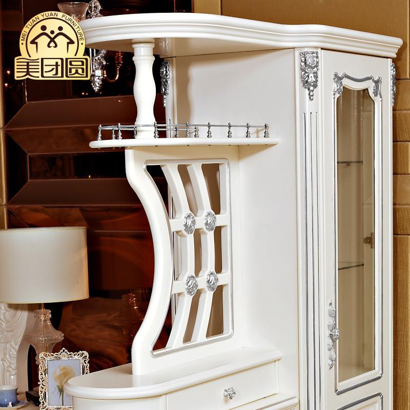 象牙白木框架结构储藏欧式