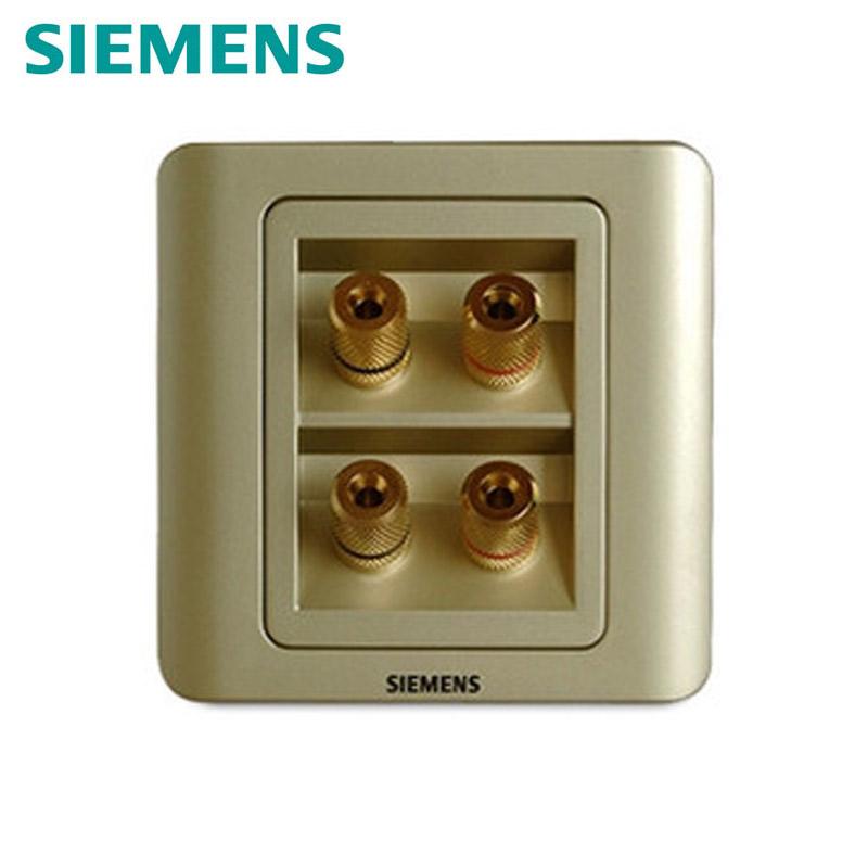 【西门子远景金棕色】 四接线柱音响插座 |全国包邮
