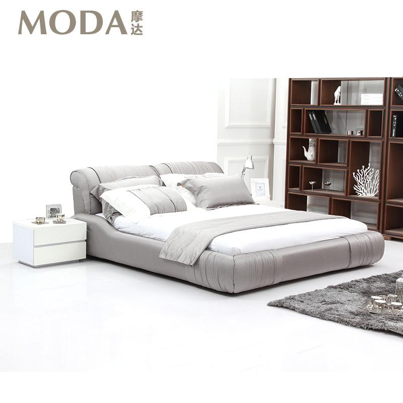 样品色床+乳胶床垫木无组装式架子床方形简约
