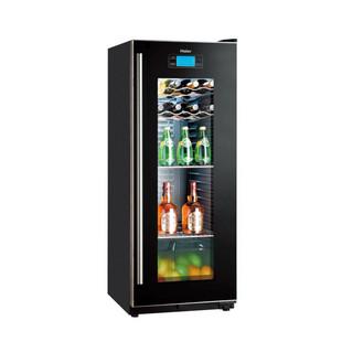 海尔 黑色冷藏162L单门直冷立式 酒柜